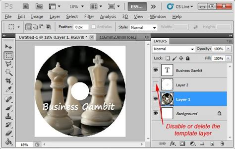how to design cd label using photoshop for cd replication