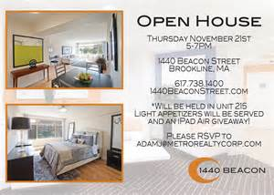 What To Bring To Apartment Open House Nyc Open House Thursday Nov 21 5 7pm 1440 Beacon St