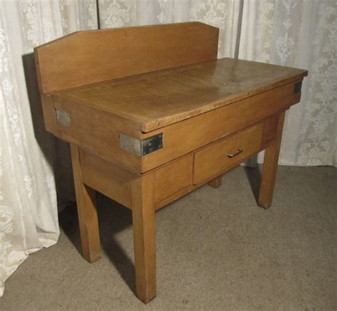 Kitchen Island With Chopping Block Top French Vintage Butchers Block On Stand Kitchen Island