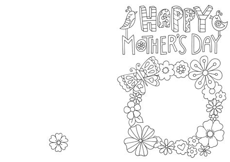 mothers day card templates to color free free s day card colouring hobbycraft