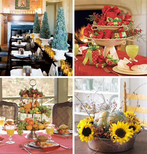 Home Decor Table Centerpiece | 50 great easy christmas centerpiece ideas digsdigs