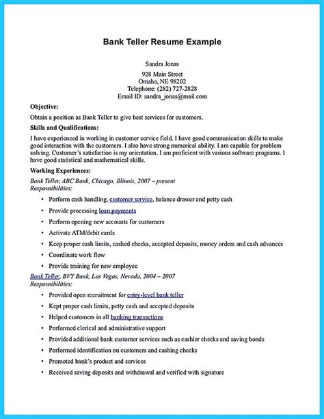 cover letter examples for bank teller sample cover letter for