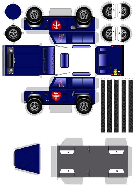 Papercraft Vehicles - land rover car papercraft land rovers
