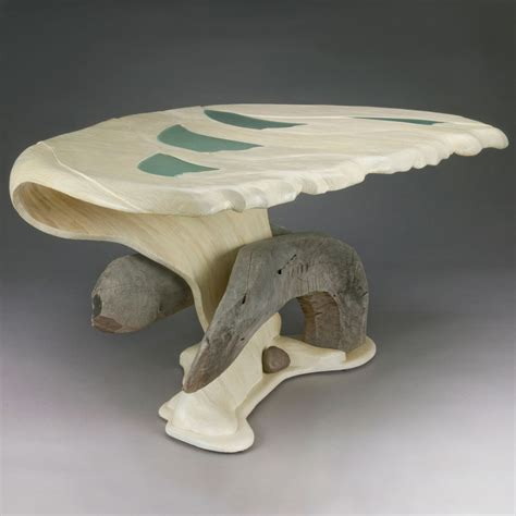Shell Table L by Oyster Shell Table Aaron Laux Design