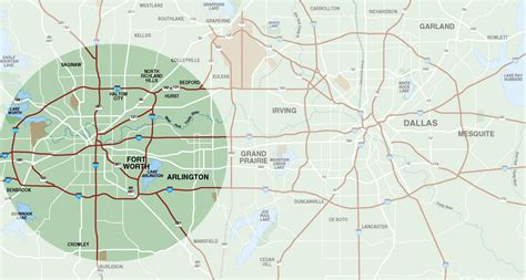 map of and surrounding areas fort worth surrounding area map fort worth tx mappery