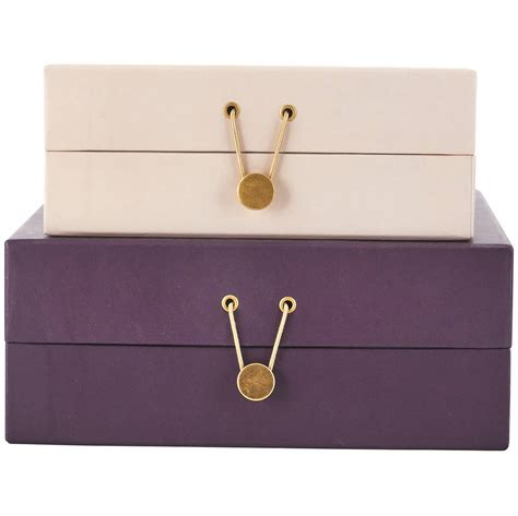 Decorative File Boxes by Decorative Storage Filing Box Set With Gold Detail By