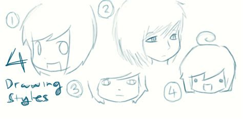 Drawing Styles by 4 Of My Drawing Styles By Graceeeeee On Deviantart