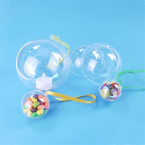clear baubles clear acrylic baubles 5 pack 80mm kits