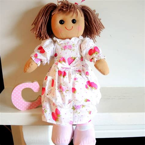 rag doll in personalised rag doll by the alphabet gift shop