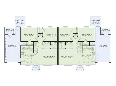 multi family home plans duplex duplex house plans one story duplex plan 025m 0082 at