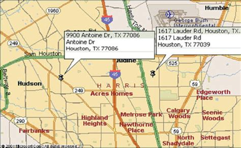 aldine texas map transportation department locations