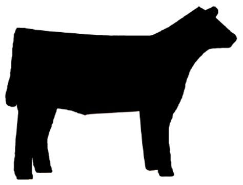 Show Heifer Outline by Free Clip