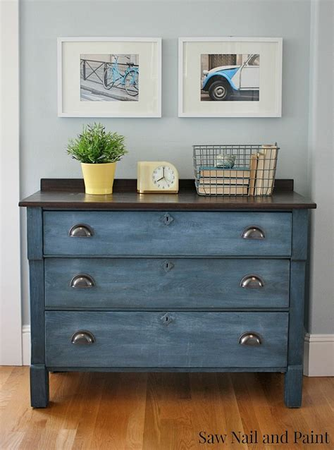 furniture paint hometalk upcycled blue chest of drawers