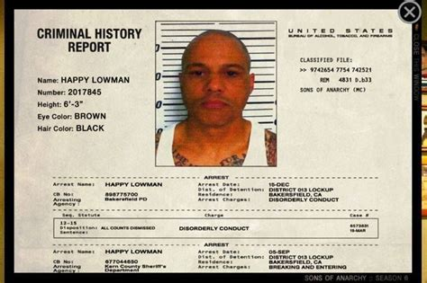 Criminal History Report 485 Best Images About Sons Of Anarchy On