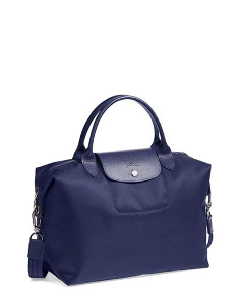 Longch Le Pliage Neo Cosmetic Small longch medium le pliage neo tote in blue lyst