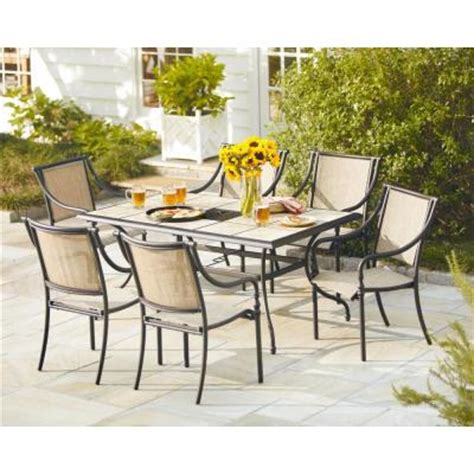 Home Depot Patio Dining Sets Hton Bay 7 Patio Dining Set T07f2u0q0017 The Home Depot