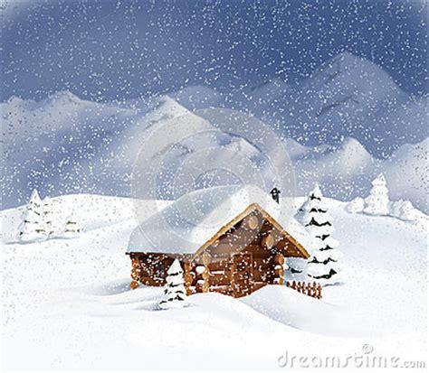 urlaub schnee h tte weihnachtslandschaft h 252 tte schnee kiefer lizenzfreies