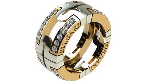 bvlgari ring 070 3d model stl 3dm bulgari ring 3d printable model cgtrader