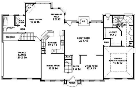 4 bedroom 2 bath house floor plans 653907 traditional 4 bedroom 2 5 bath house plan