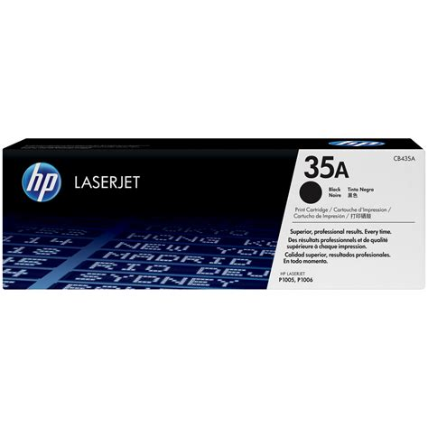 Hp Toner 35a Cb435a Original Black hp 35a cb435a black original laserjet toner cartridge