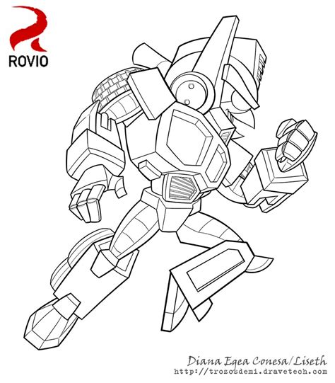 Coloring Pages Transformers Angry Birds | angry birds transformers optimus by liseth on deviantart