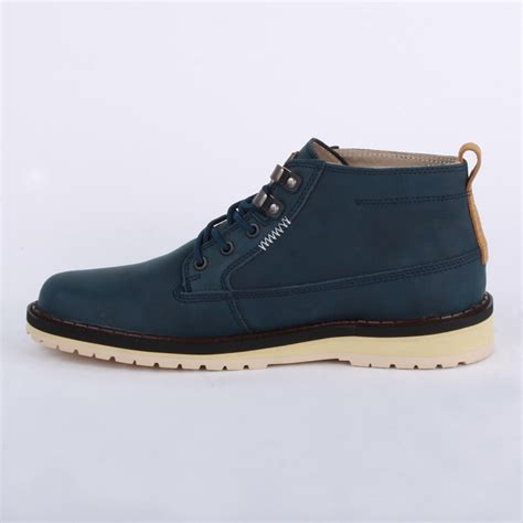 lacoste delevan 11 mens laced leather ankle boots shoes