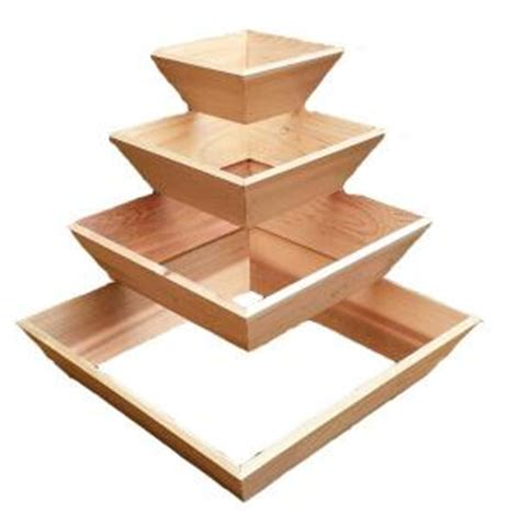 Wooden Pyramid Planter by 20 In Wood Pyramid Planter 8261011 The Home Depot