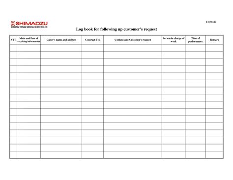 truck driver log book templates