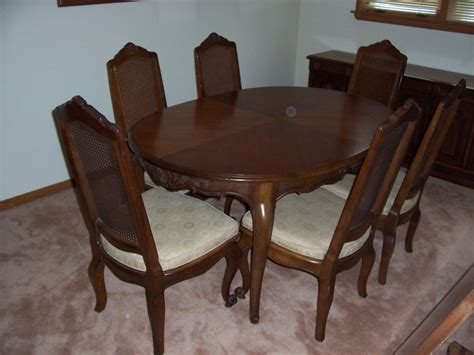 drexel heritage dining room set  sell french country stressed ch  antique