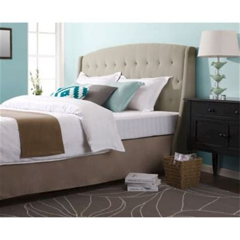 Roma Tufted Wingback Headboard Roma Tufted Wingback Headboard Taupe