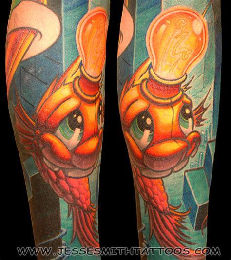 new school pisces tattoo ghostprint gallery tattoos new smart fish