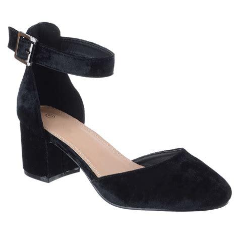 closed toe heeled sandals womens mid low block heel ankle closed toe