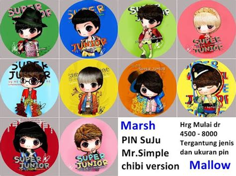 Gantungan Kunci Kaleng Kpop Junior Heechul september 2011 marsh mallow k stuff