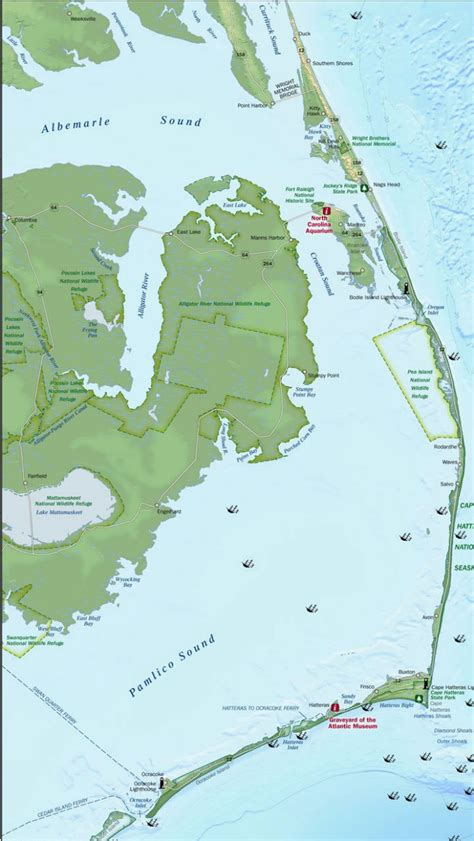 map of outer banks vacation planning tips outer banks carolina