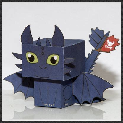Toothless Origami - new paper craft how to your toothless