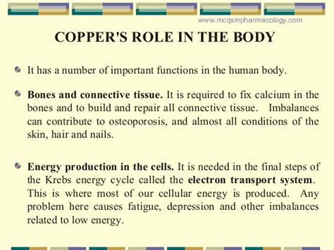 Copper Detox Diarrhea by Minerals Copper Article Glbrain