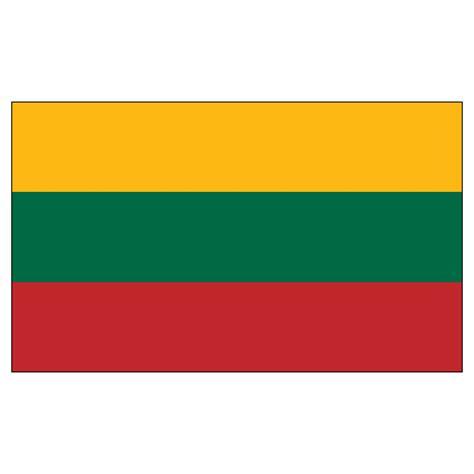 Display Case Lighting Lithuania Flag 2ft X 3ft Nylon