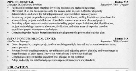 Healthcare Project Manager Resume by Healthcare Project Manager Resume Exle Http