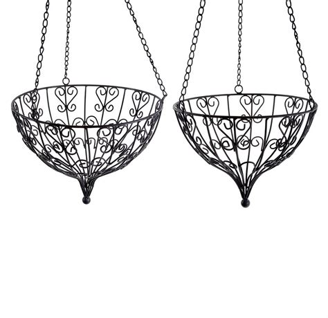 decorative indoor hanging baskets metal hanging baskets cheap metal hanging flower pot