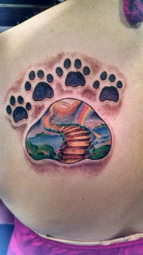 rainbow bridge tattoo best 25 pet memory tattoos ideas on tattoos