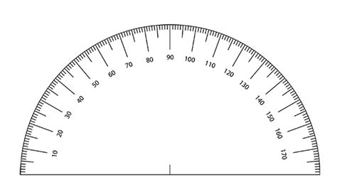 printable protractor to scale free printable protractor template paper protractor