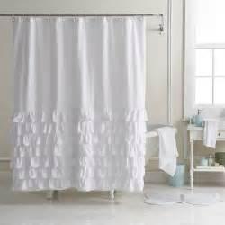 ruffle fabric shower curtain lc lauren conrad ella ruffle fabric shower curtain