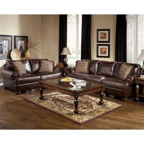 Walnut Furniture Living Room Axiom Walnut Living Room Set Signature Design Furniture Cart
