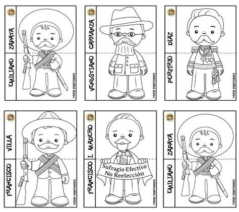 imagenes revolucion mexicana para pintar fant 225 sticos dise 241 os de los personajes de la revoluci 243 n