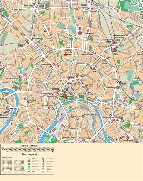 city map moscow city map 125000 moscow russia mappery