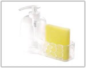 kitchen sink soap and sponge holder kitchen soap dispenser with sponge holder india home