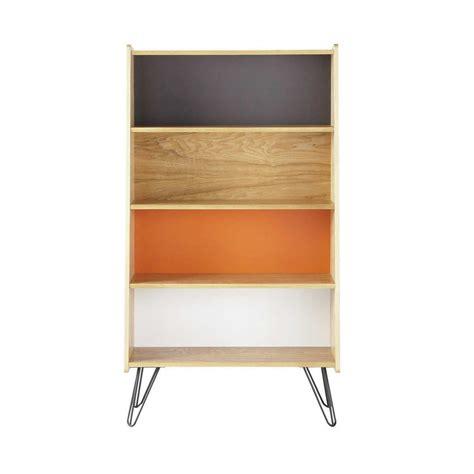 wooden vintage bookcase multicoloured w 72cm twist
