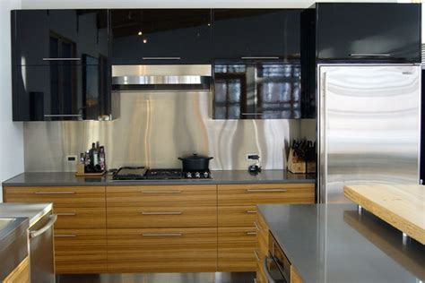 horizontal grain kitchen cabinets contemporary veneer kitchen cabinets in horizontal grain