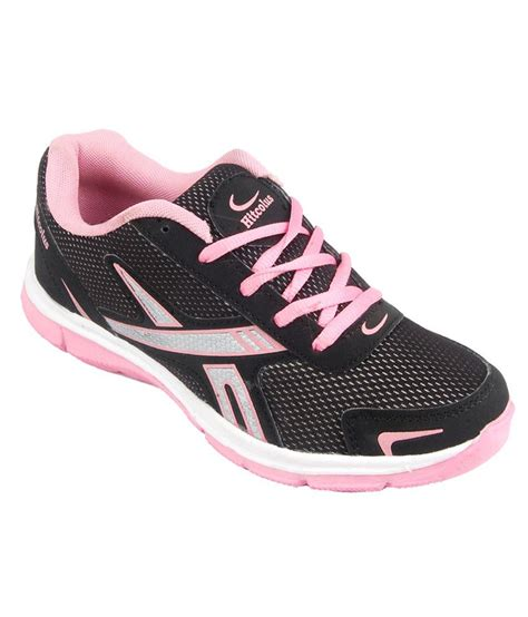 pink sport shoes hitcolus black and pink trendy sport shoes price in india