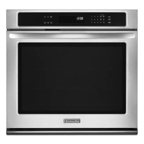 kitchenaid built in kitchenaid kebk171bss 27 inch built in single wall